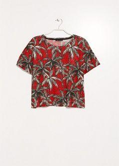 T-shirt linho palmeiras