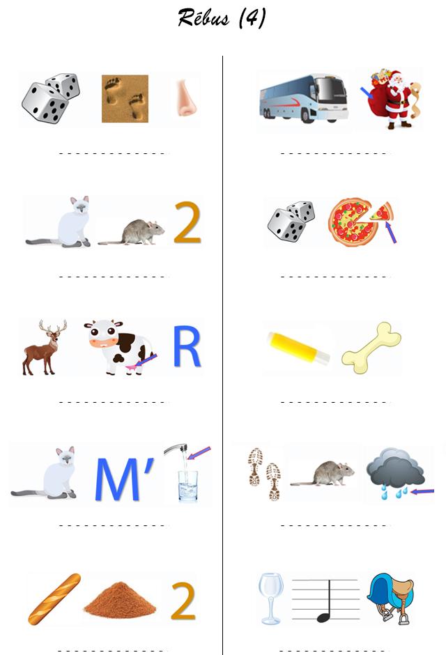 Relativ Rébus 4 | charades / devinettes / énigmes / rébus | Pinterest  SA78
