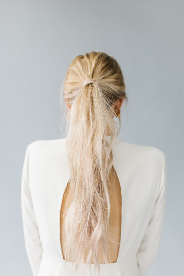 Hair wrapped ponytail: http://www.stylemepretty.com/2017/01/05/all-the-inspo-you-need-to-infuse-your-wedding-with-modern-romance/ Photography: Kenzie Victory - http://kenzievictory.com/