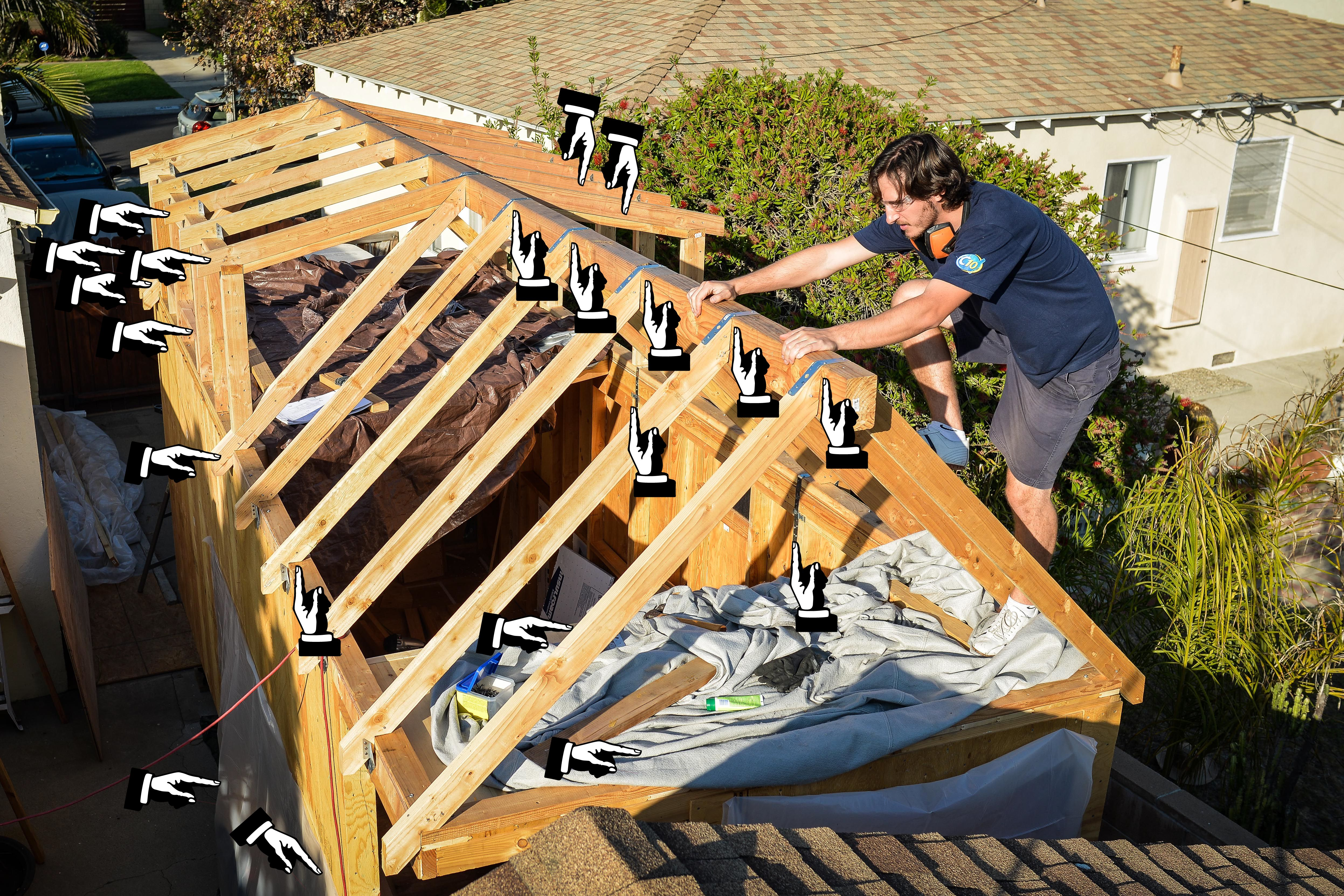 Strapping The Roof | Tiny houses and House