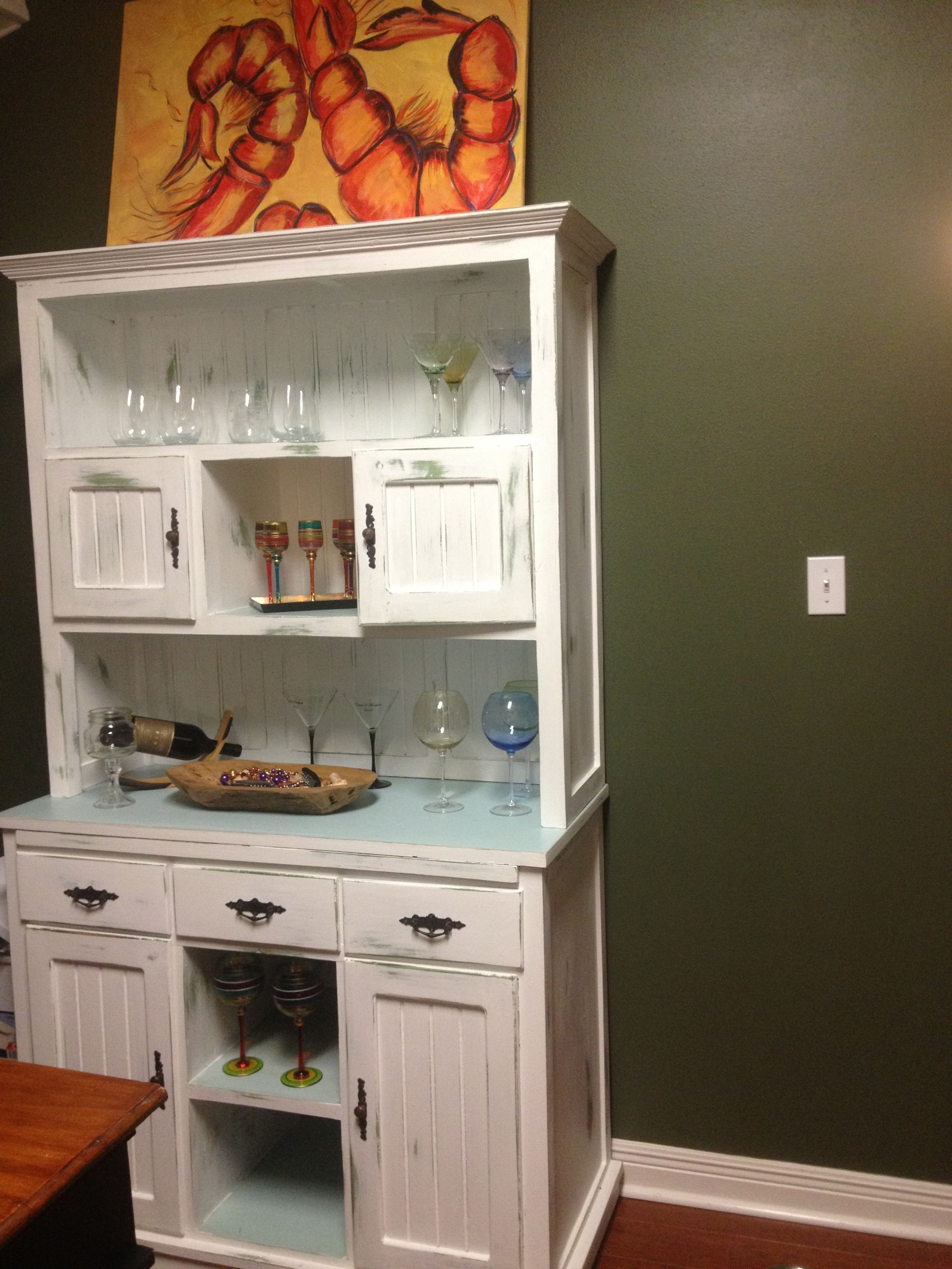 kitchen hutch antique paint kitchen hutch pinterest kitchen rh pinterest com
