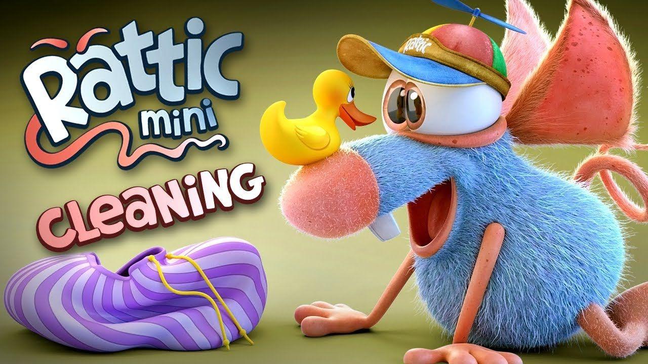 Funny Cartoon Rattic Mini Cleaning Funny Cartoons For Children K Funny Cartoons Funny Videos For Kids Funny Cartoon
