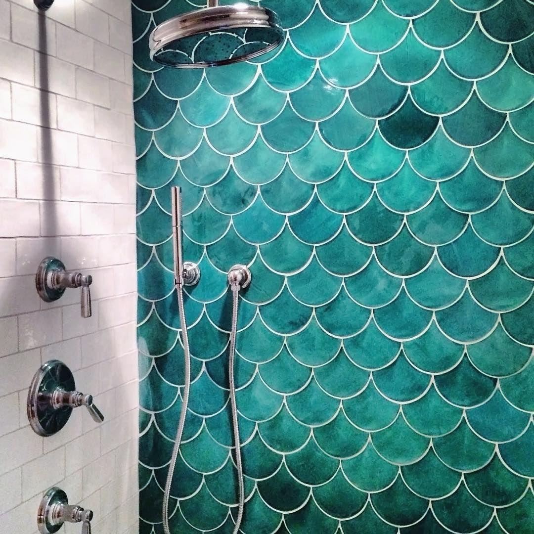 fish scale tile bathroom