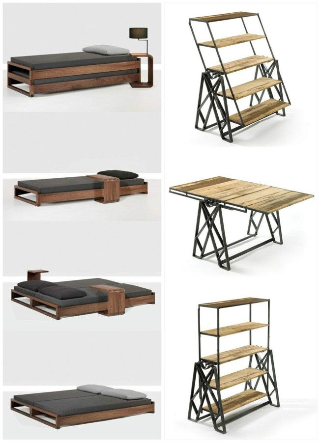 Muebles multifuncionales ideas pinterest muebles for Muebles piso pequeno