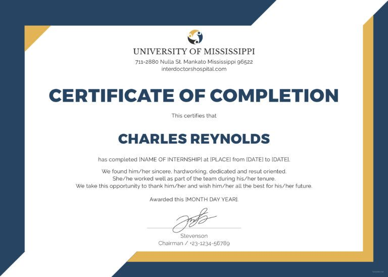 Free Certificate Of Completion Template Sample With Example With Ce In 2020 Free Certificate Templates Certificate Of Completion Template Certificate Of Completion