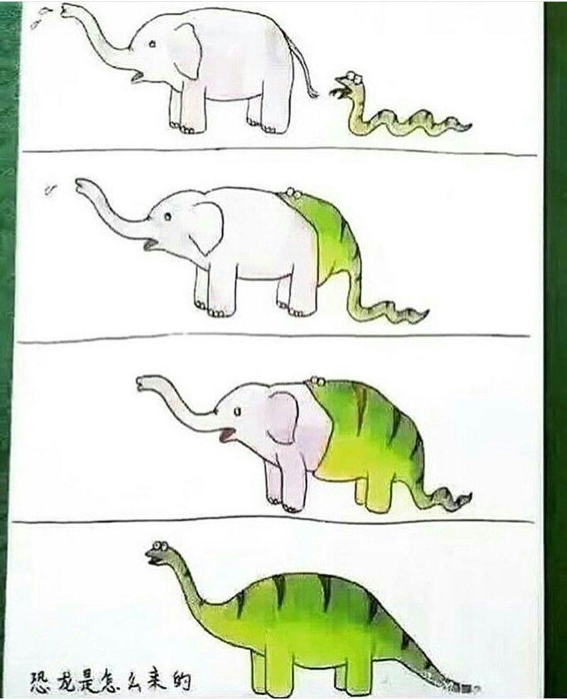 1db454353ffb2499ad12e23bff0f1fbe elephant snake = long neck dinosaur (i don't know it's name