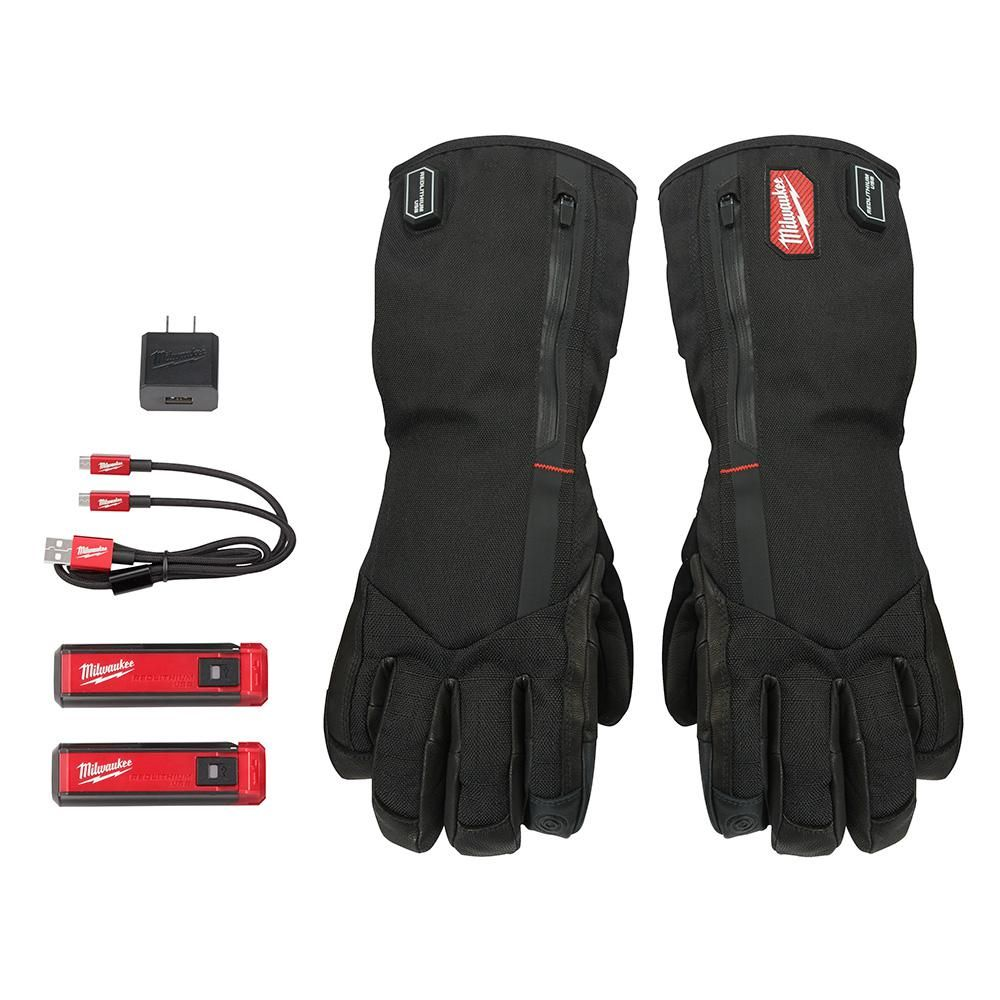 Milwaukee X Large Rechargeable Heated Gloves With Redlithium Usb Battery And Charger 561 21xl The Home Depot Heated Gloves Gloves Heated Work Gloves