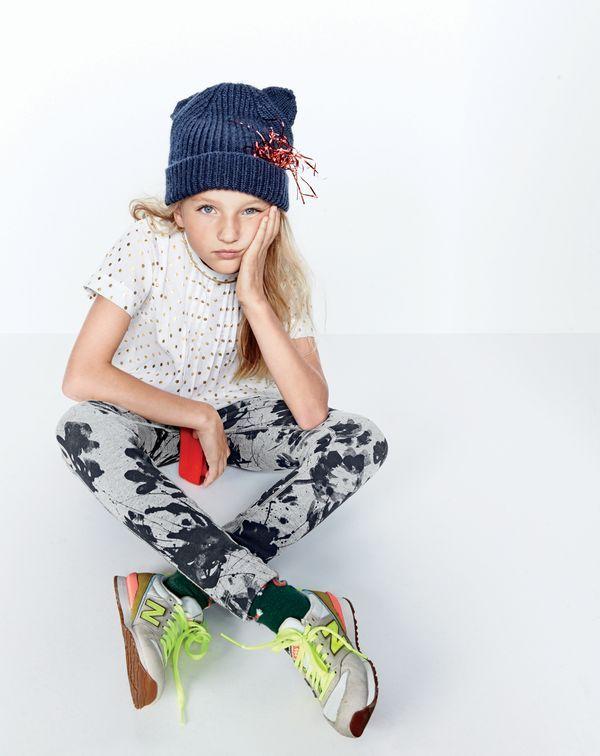 J CREW CREW CUTS Girls Floral Slip on Sneakers