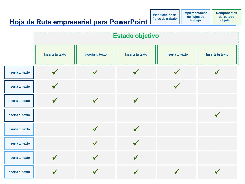 Plantillas de Hoja de Ruta Empresarial | Plantilla de hoja ...