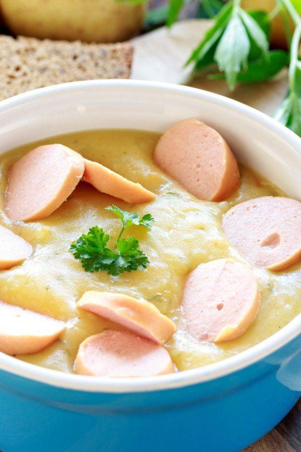 Omas Kartoffelsuppe Mit Wiener Wurstchen Ein Klassiker Kartoffelsuppe Omas Kartoffelsuppe Kartoffelsuppe Mit Wiener
