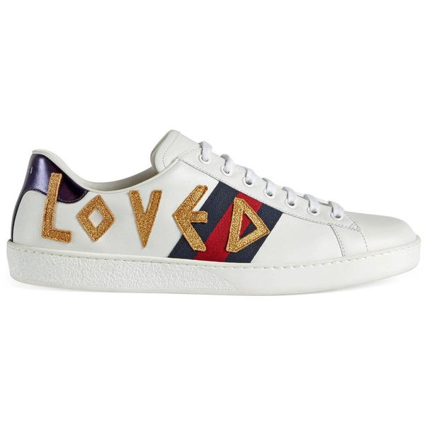 7790a9ce1b7 Gucci Ace Embroidered Sneaker ( 660) ❤ liked on Polyvore featuring men s  fashion