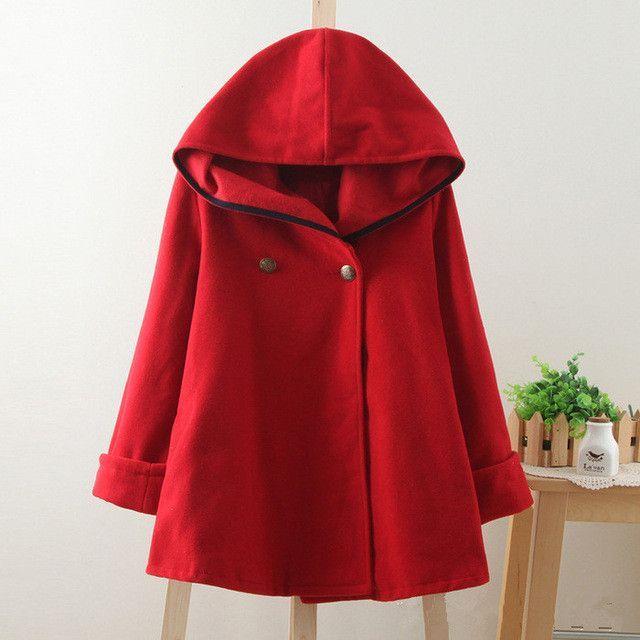 1d5d95ac45282 2016 winter new vintage wool cloak preppy style sailor navy blue blends coat  outerwear women plus size solid color autumn cape