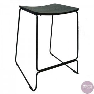 Perfect Sitting Pretty Furniture   Space Plywood Stool   Black