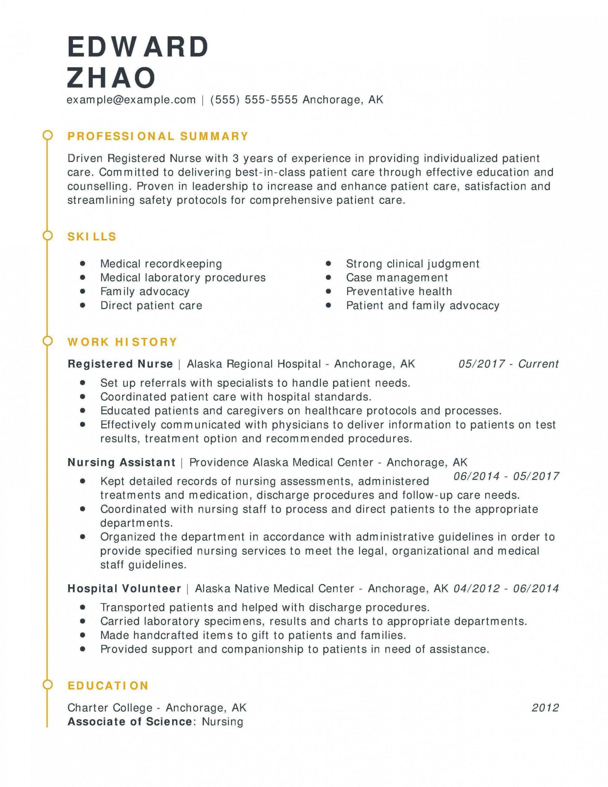 entry level nursing informatics resume