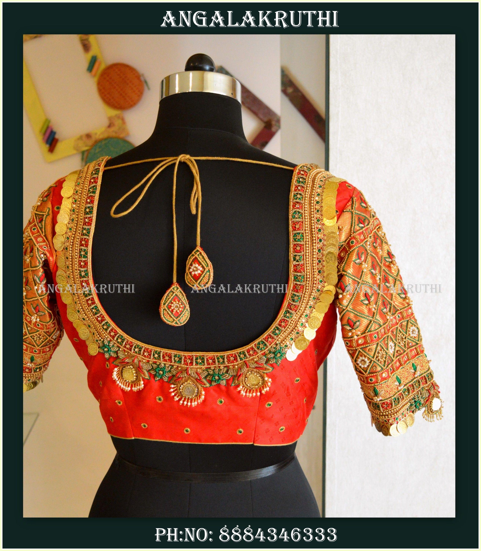 422b62b1032f91 Bridal blouse designs in bangalore by Angalakruthi boutique wedding blouse  designs in Bangalore Maggam work blouse designs hand embroidery blouse  designs ...