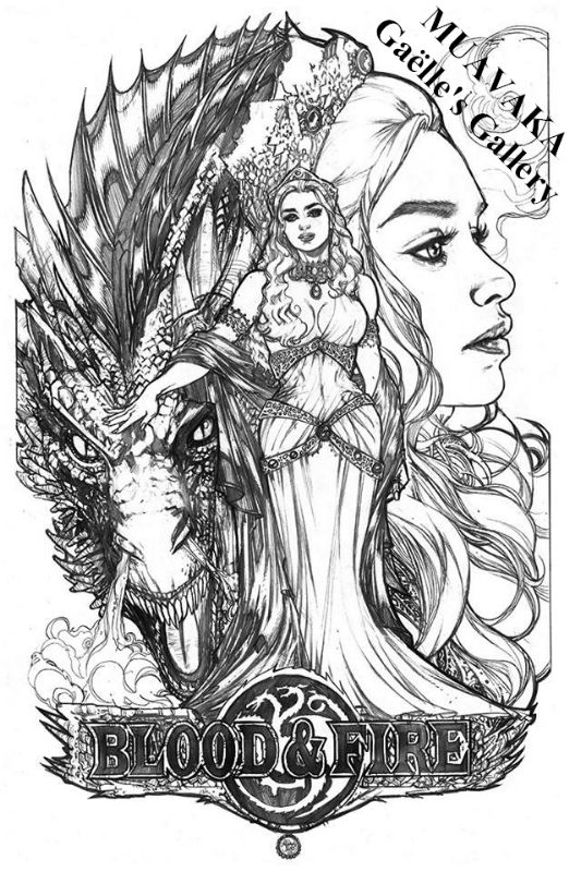 Adriana Melo Game Of Thrones Game Of Thrones Art Coloring Pages Coloring Books