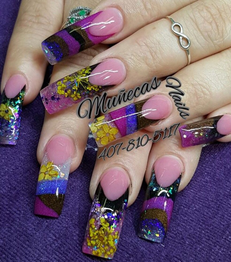 Acrylic Nails By Carmen Enid Pedraza Muecas Nails Design
