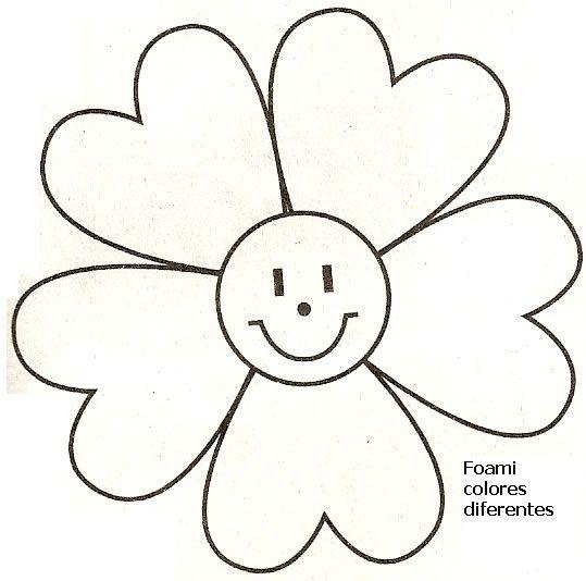 Centenas De Moldes Em Eva Ou Feltro Molde Flor Moldes Em Eva E