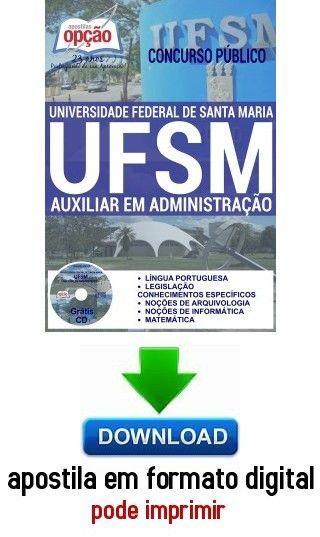Apostila Auxiliar Em Administracao Universidade Federal De