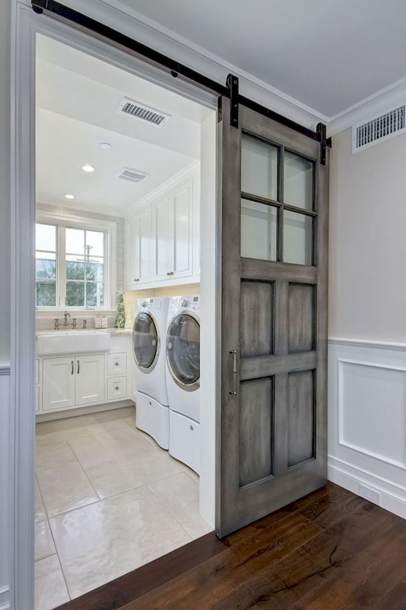 Modern farmhouse laundry room remodel ideas 5