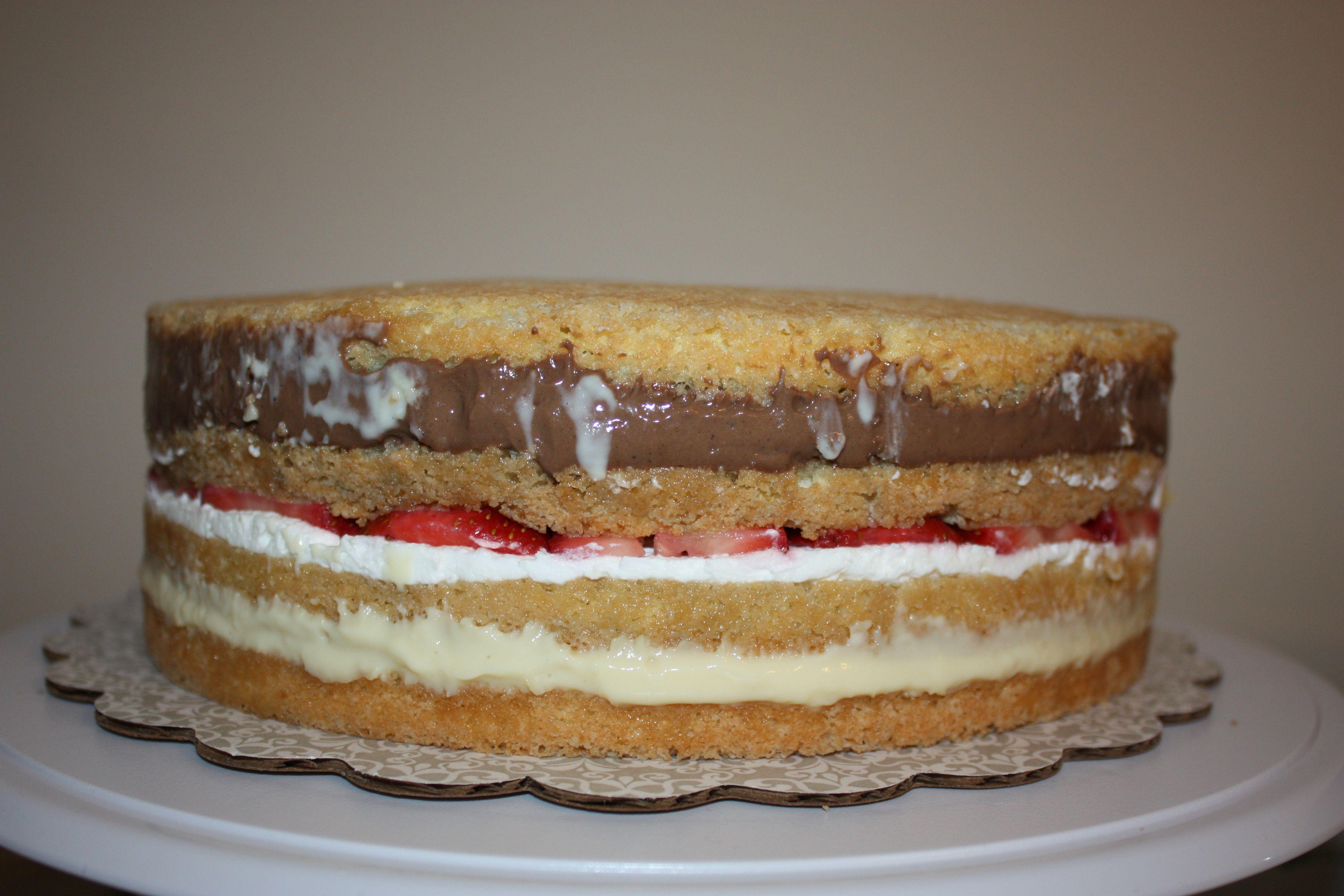 Pleasant Italian Rum Wedding Cream Cake With Images Italian Cream Cakes Funny Birthday Cards Online Amentibdeldamsfinfo