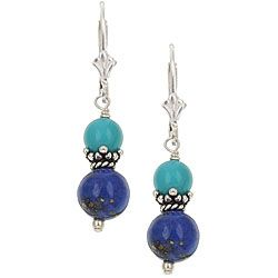 Charming Life Sterling Silver Lapis/ Turquoise Drop Earrings...$18