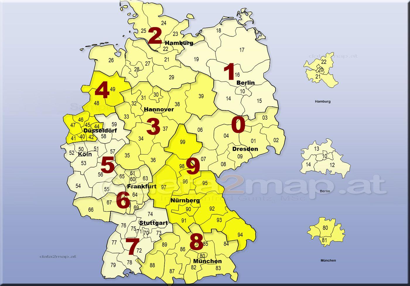 Deutschland Karte Plz Deutschland Karte Karte Deutschland