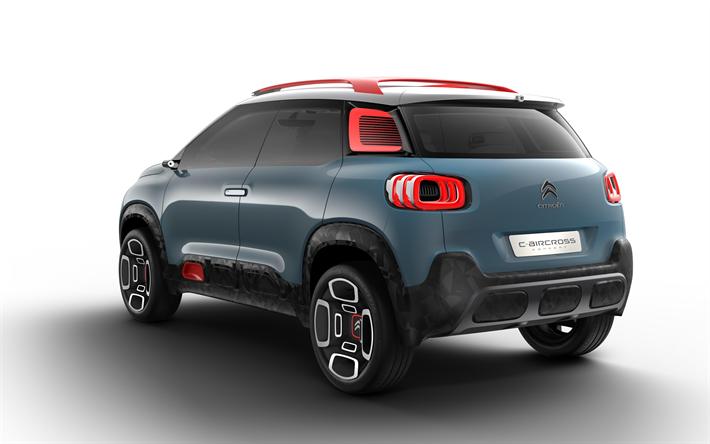 Lataa kuva Citroen C-Aircross Concept, 2018, Käsite Autoja, 4k, uusia autoja, takaa katsottuna, kompakti crossover, Ranskalaiset autot, Citroen