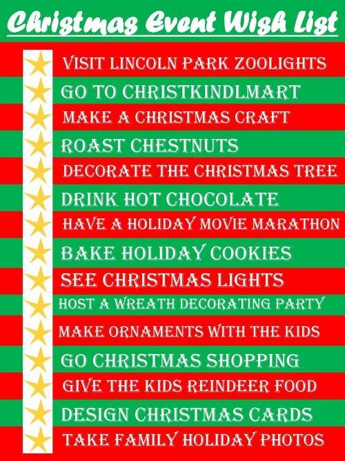 Christmas Event Wish List