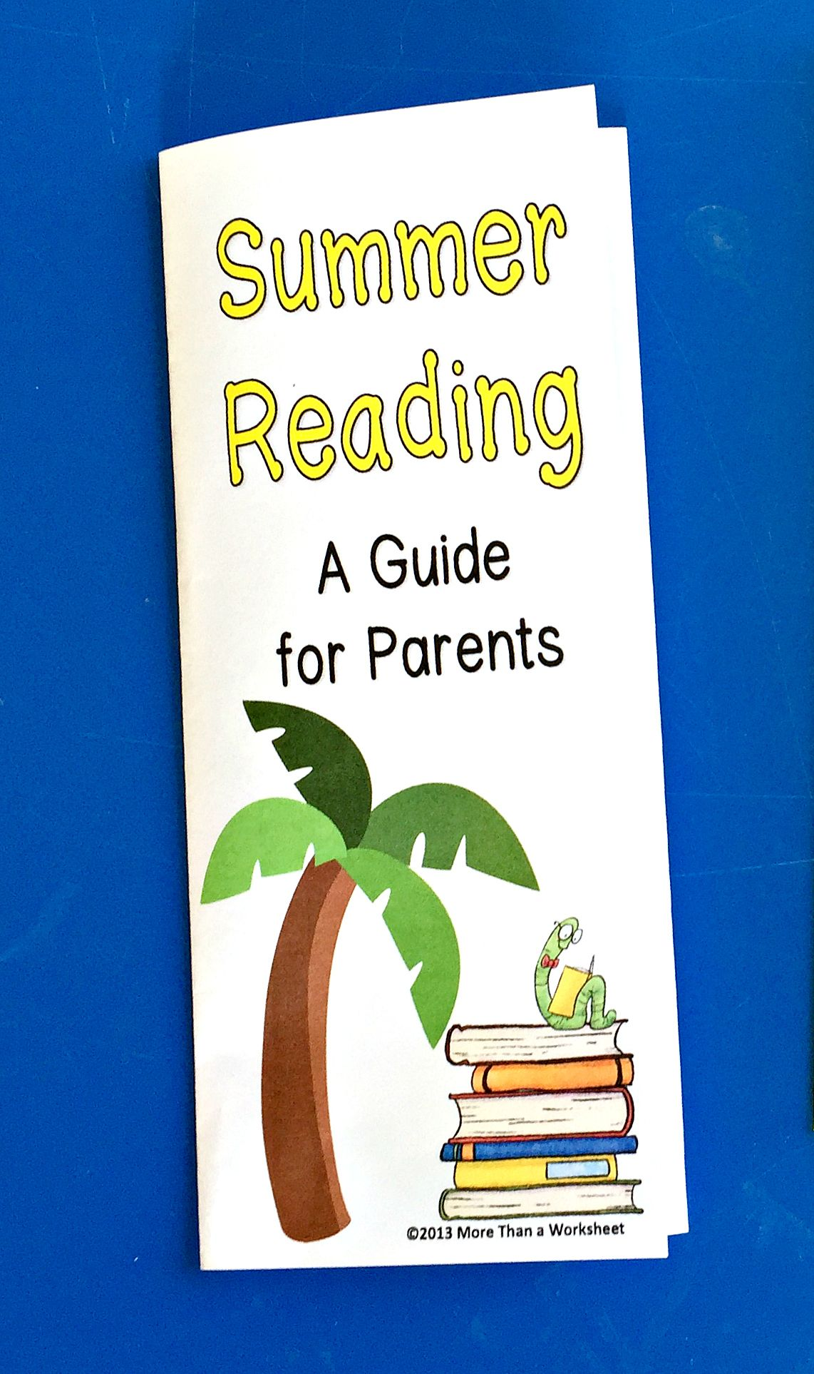 Summer Reading Brochure For Parents Free