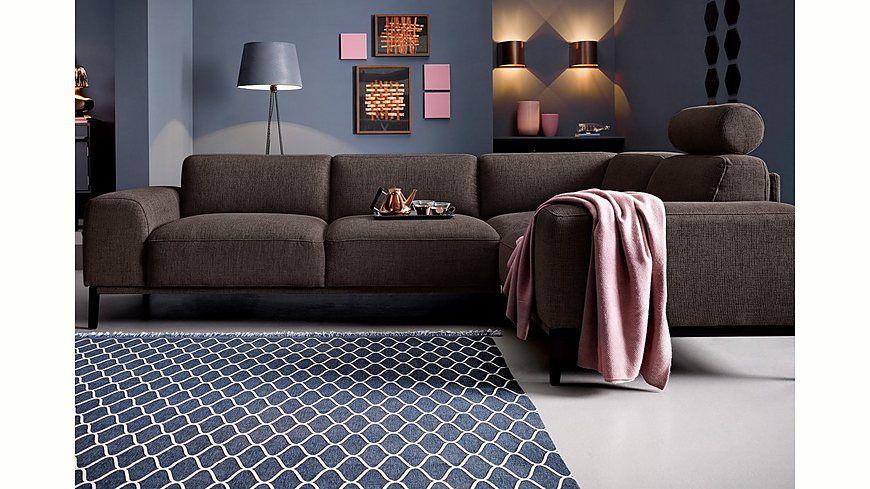 Trendmanufaktur Polsterecke mit langem Schenkel, inklusive - barbie wohnzimmer möbel