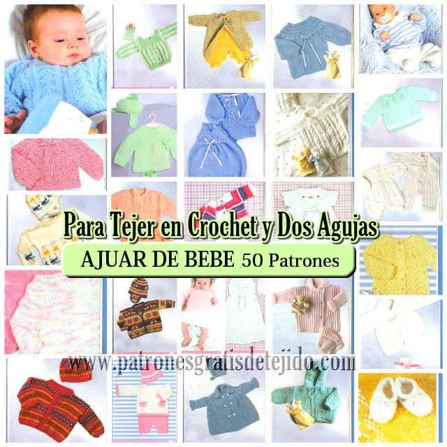 Revista de tejido para bebes con paso a paso y moldes | Crochet y ...