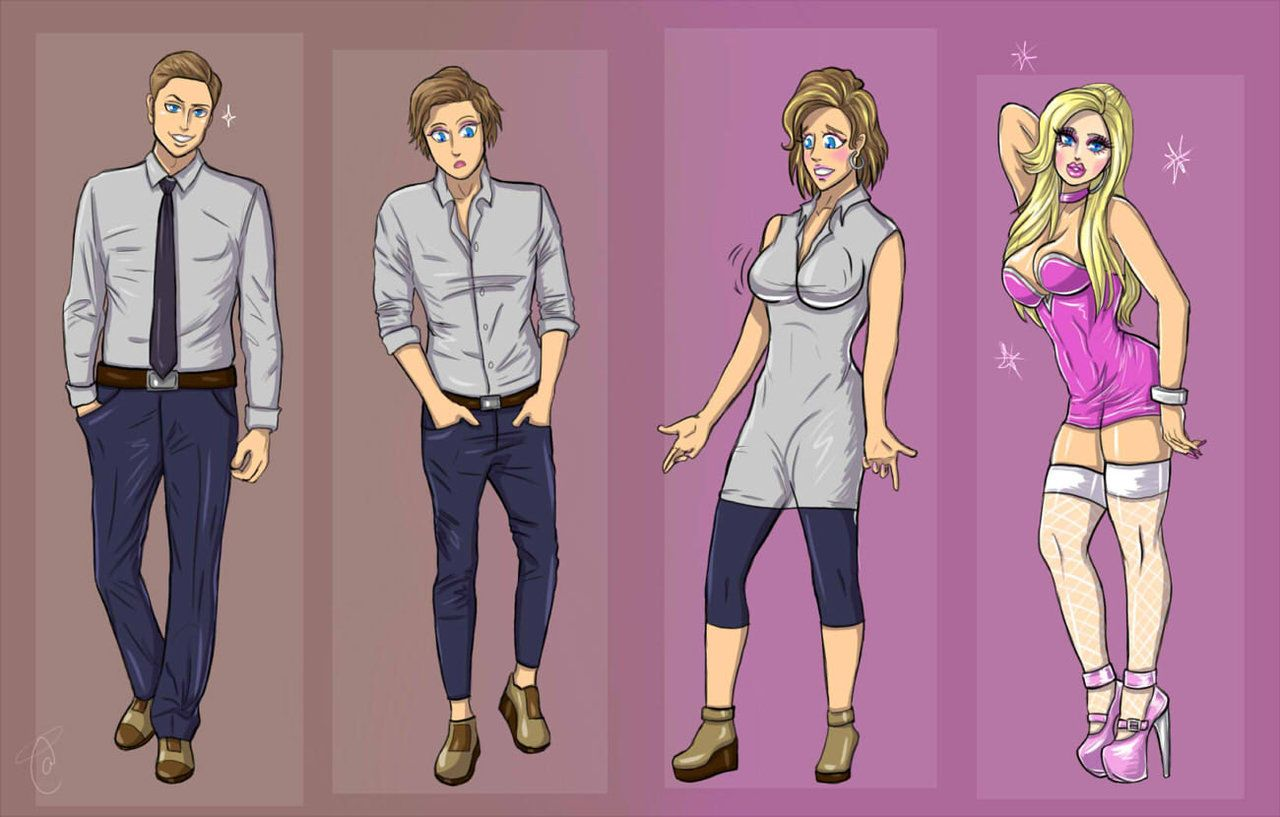 Male To Bimbo  Commission Tg Transformation 4 By Kitty -1159