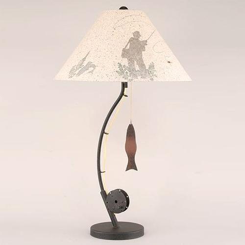 Fly Fishing Pole Table Lamp Fish Lamp Fishing Decor Fly Fishing Decor