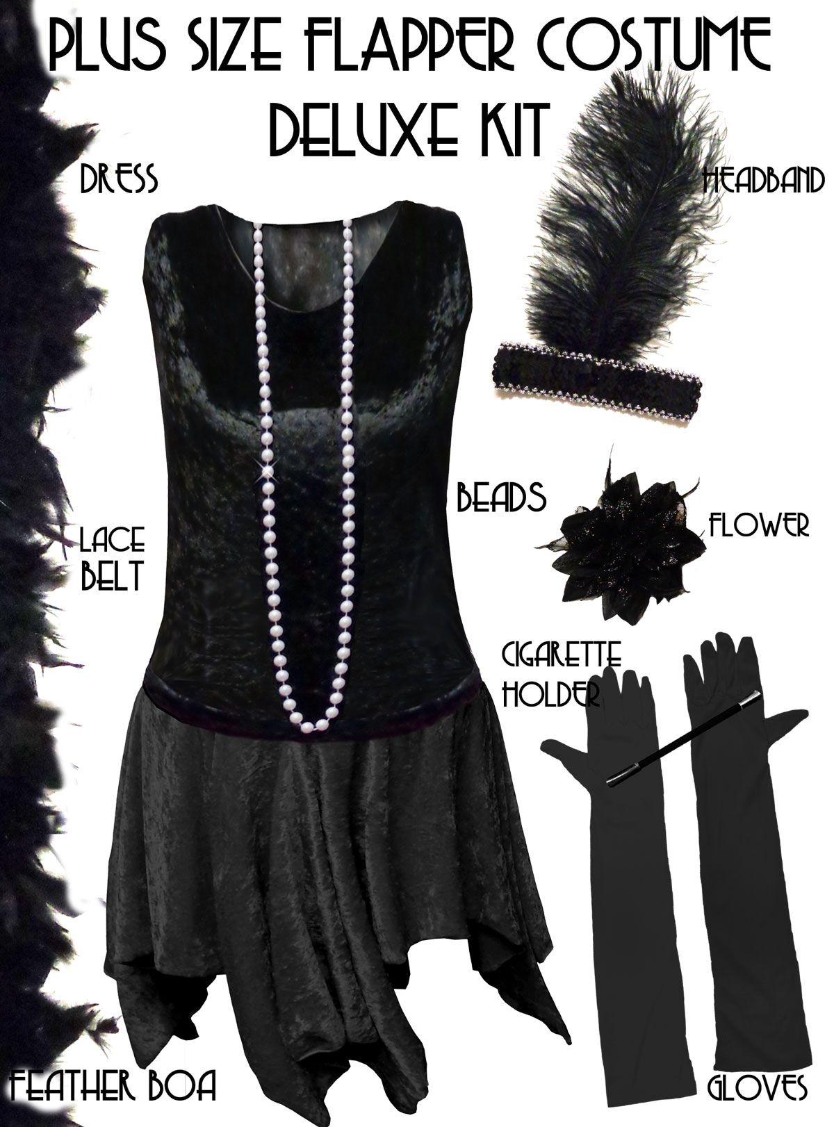 Plus size roaring 20s style dresses