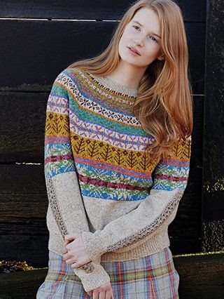Loveage from Windswept by Marie Wallin - Marie's first exclusive collection, Windswept is a celebration of traditional fairisle and cable patterning with a hint of crochet   English Yarns