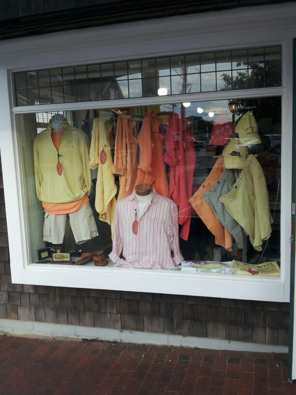 Tommy Bahama Window Display At Dock Square Clothiers In Perkins Cove Ogunquit Maine Clothing Company Boutique Set Ogunquit