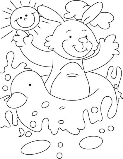 This water joy-ride I like most in summer coloring page ...