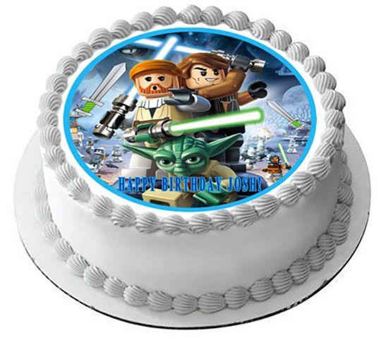 Lego Star Wars 1 Edible Birthday Cake Topper Edible Cake Image