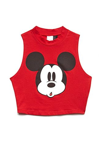 490d74bde56 Hey Mickey Crop Top | FOREVER 21 - 2000069912 | £@$hiøn.. | Tops ...