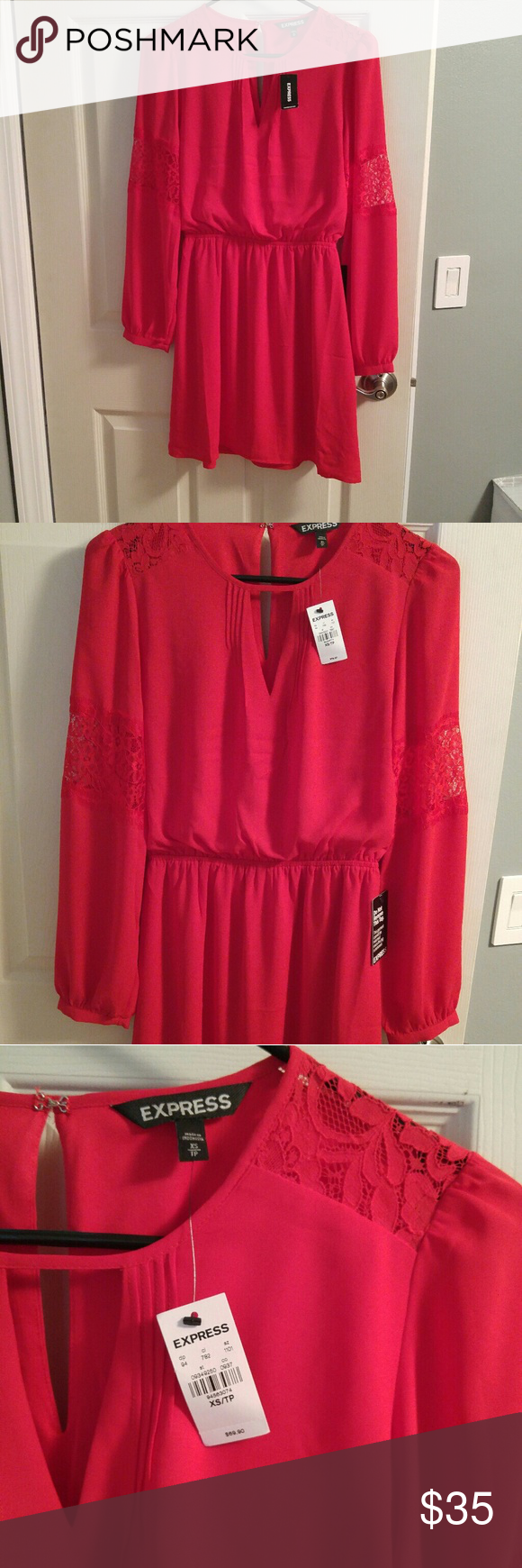 Nwt xs red express dress nwt true red express dresses and front lace