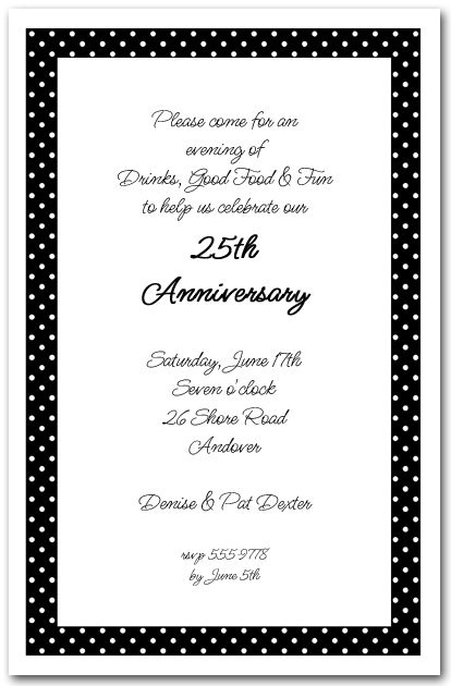 White dots on black birthdays business invitation and fonts adult birthday invitations white dots on black invitation stopboris Image collections