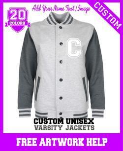 girls customised varsity create a jacket sweatshirt