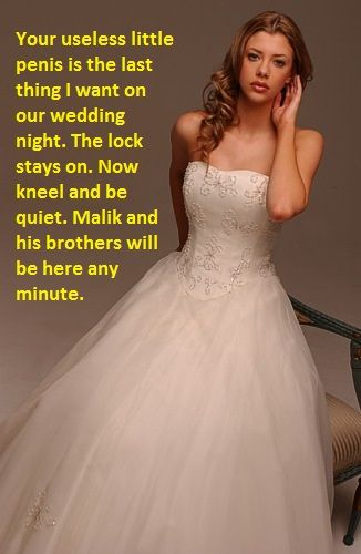 Wedding night cuckold fantasies captions sorry