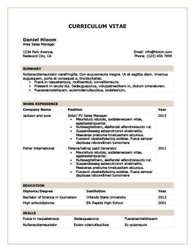 Chronological Resume By HloomCom  Desktp    Sample Resume