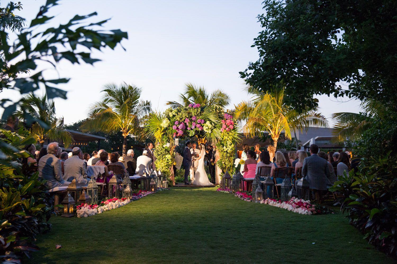 Wedding Ceremony At The Lagoon Lawn Rosewood Mayakoba Riviera Maya Mexico