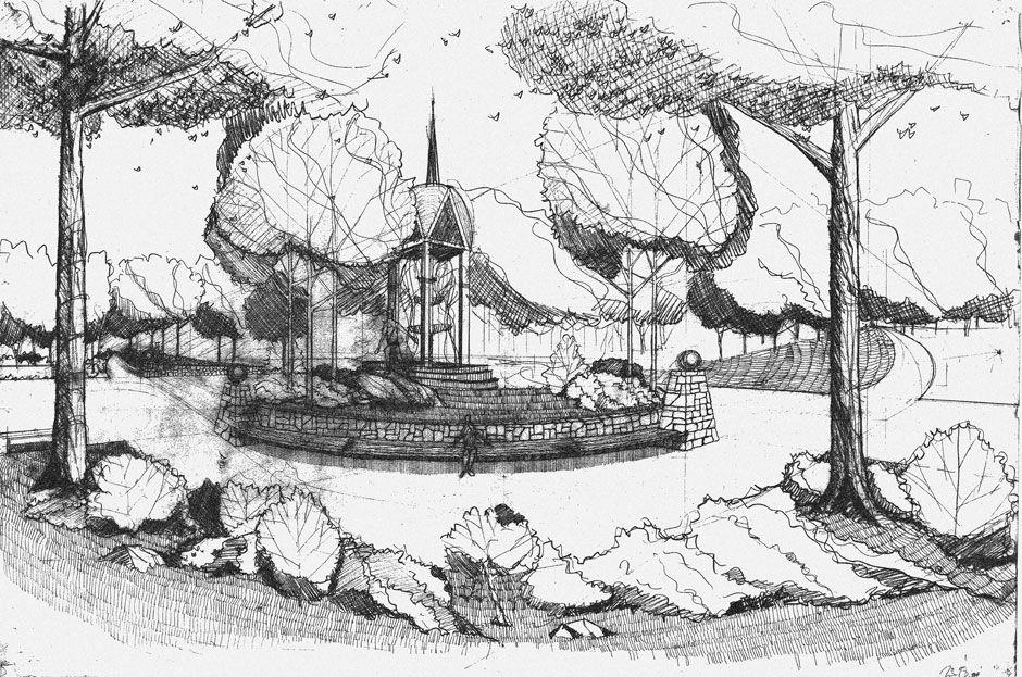 Resultado De Imagem Para Drawing For Landscape Architects Landscape Architecture Perspective Landscape Architecture Poster