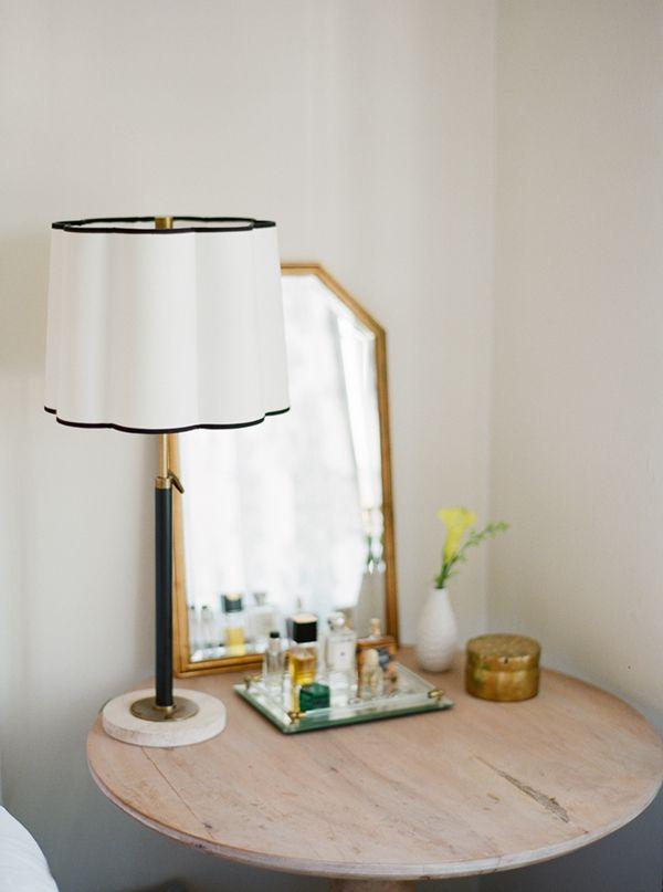 House tour cassandra 39 s apartment reveal vignette - Lamp height for bedroom night table ...