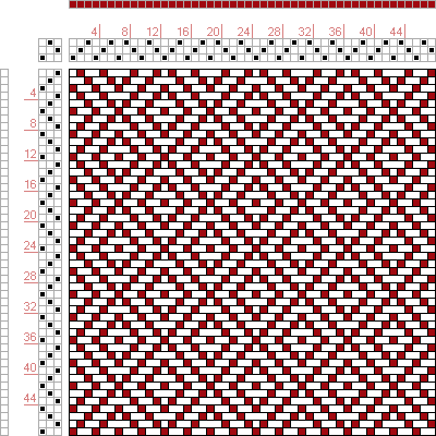 Hand Weaving Draft: Page 122, Figure 9, Donat, Franz Large Book of Textile Patterns, 3S, 3T - Handweaving.net Hand Weaving and Draft Archive