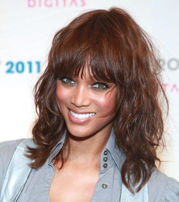30 Cute Styles Featuring Curly Hair With Bangs Wispy Bangs Wavy